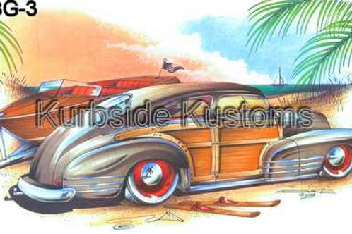 1948-49 CHEVY WOODIE WITH BOAT HOT ROD BG3