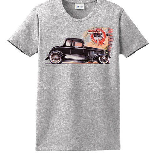 32 Ford Coupe at Diner POS-183