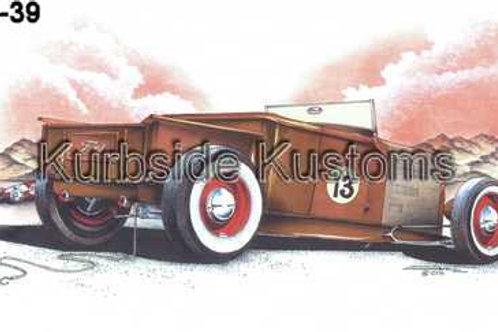 1929 LUCKY 13 RAT ROD FORD ROADSTER PICKUP HOT ROD BG39