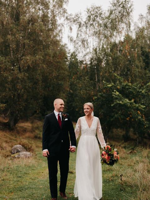 Bröllopspar i Borås