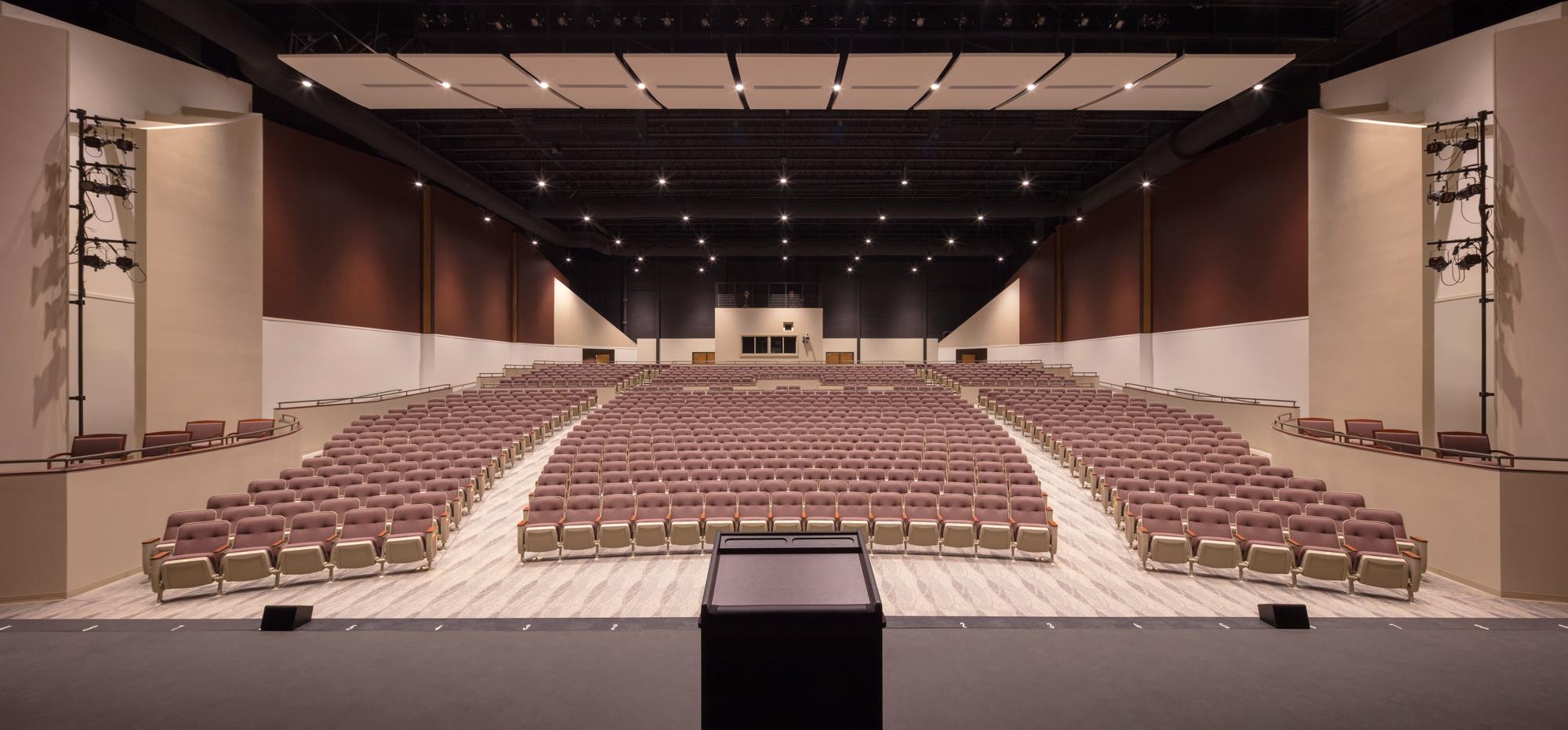 Newtown High School Auditorium seats