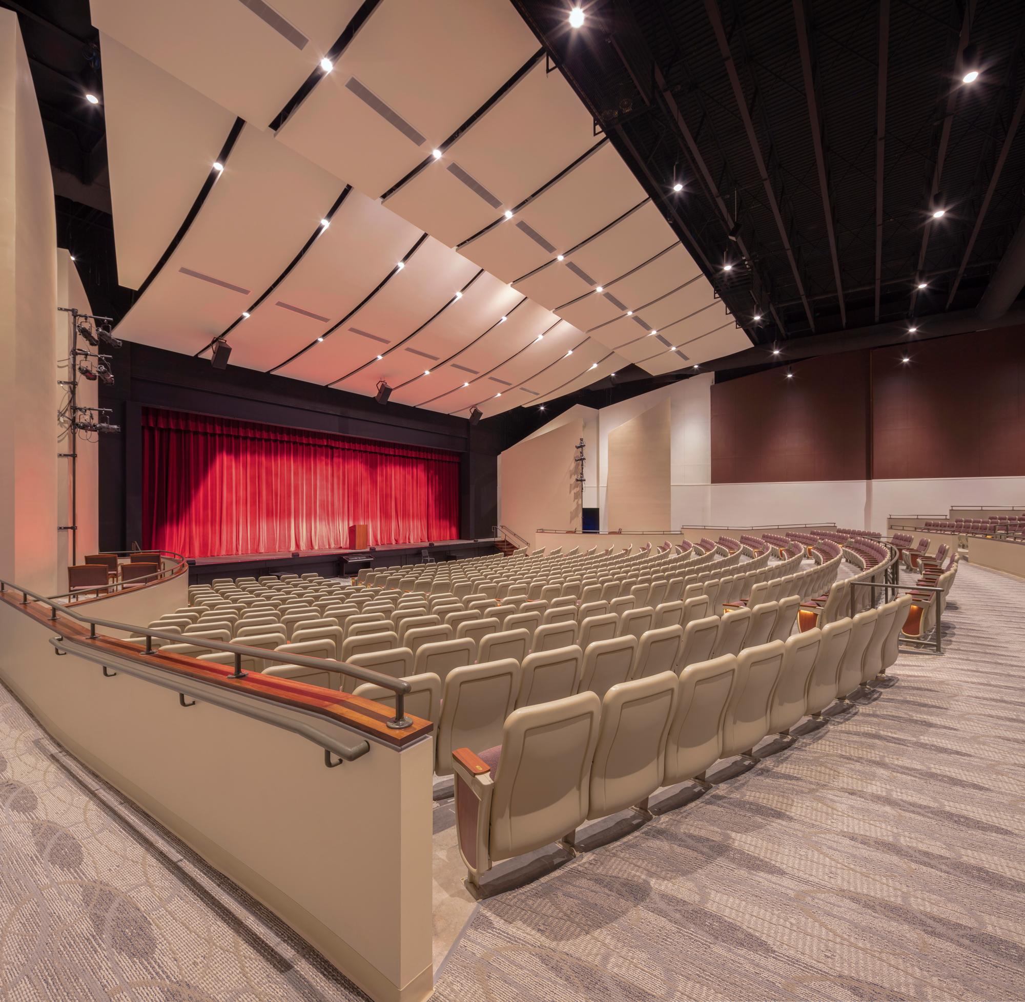 Newtown High School Auditorium stage