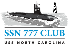 logo for the SSN 777 Club, USS North Carolina SSN 777