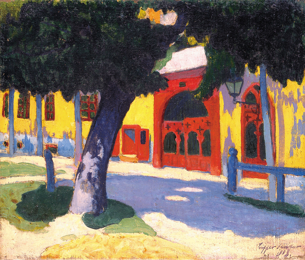 Ziffer Sándor: Vörös kapubejáró, 1908