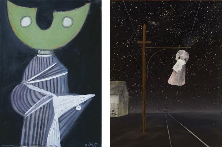 Bálint Endre: Holdfejű, 1940; Ország Lili: Rózsaszín ruha, 1956