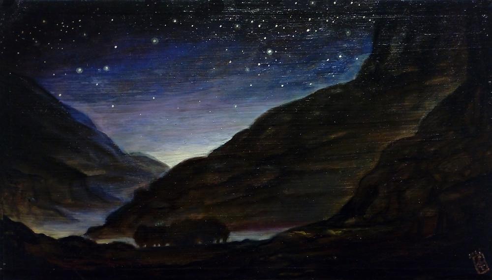 Szurcsik József: Csillagok, 2019, 13,5 x 24 cm