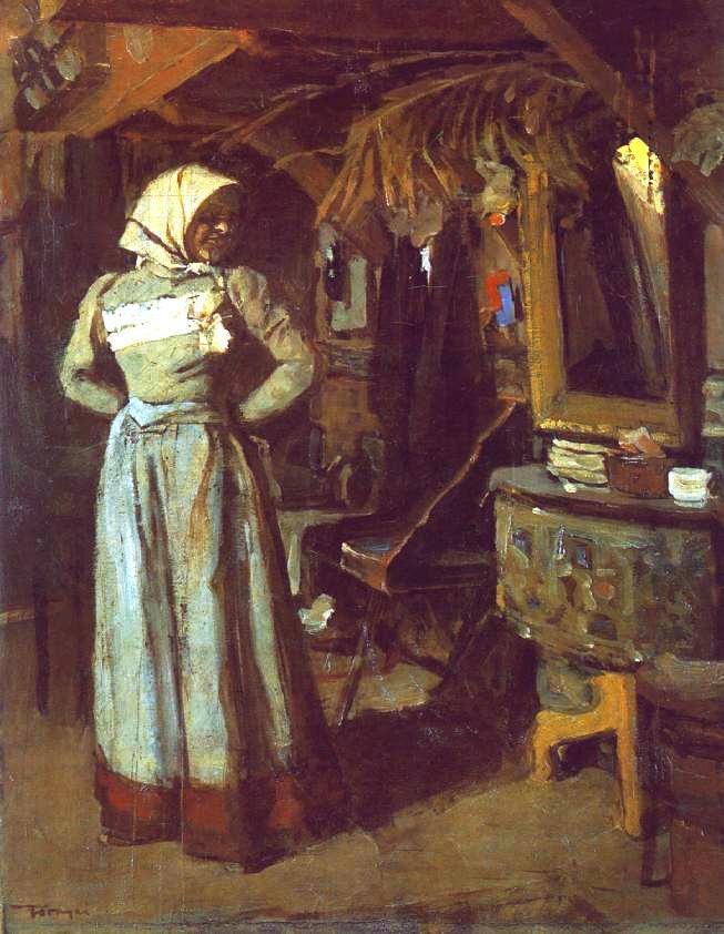 Tornyai János: Menyecske a műteremben, 1904