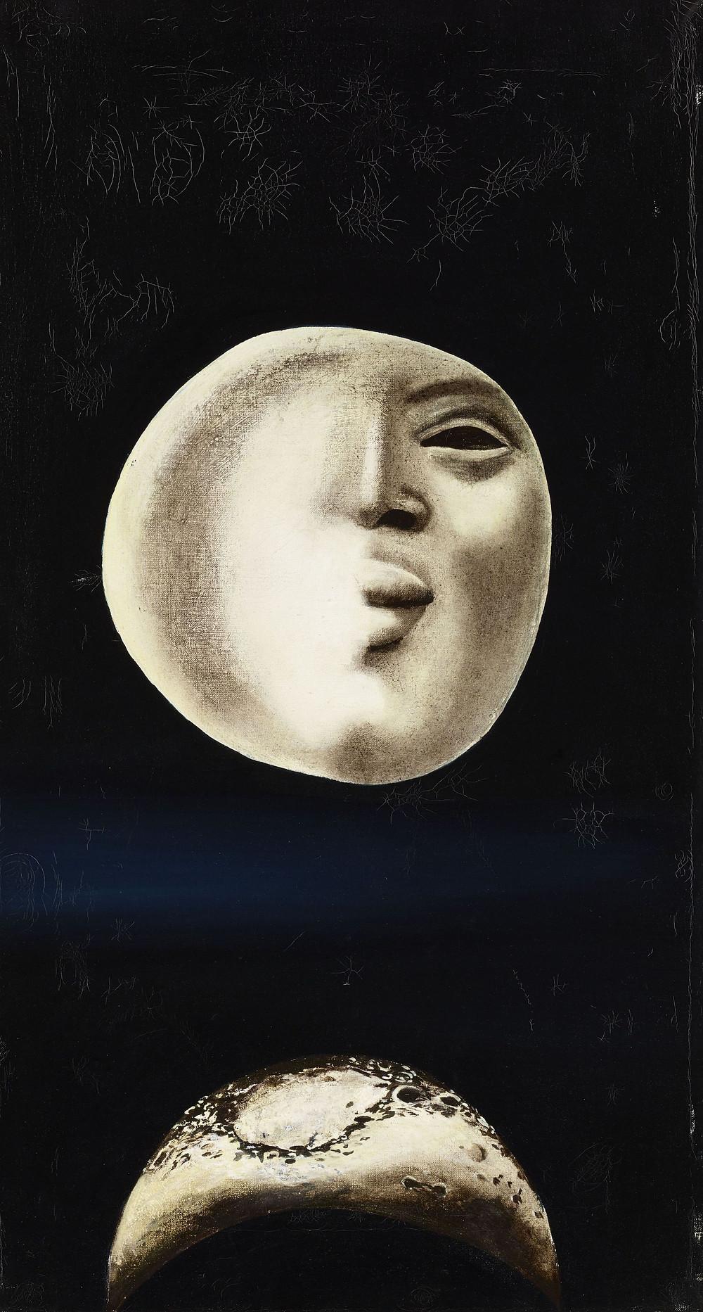 Ország Lili: Holdak, 1957. Olaj, vászon, 45 x 25 cm. Győr Megyei Jogú Város Önkormányzata, Vasilescu-gyűjtemény
