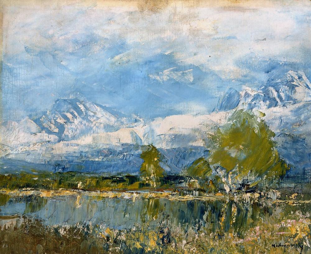 Mednyánszky László: Tavaszi domboldal, 1890-es évek első fele