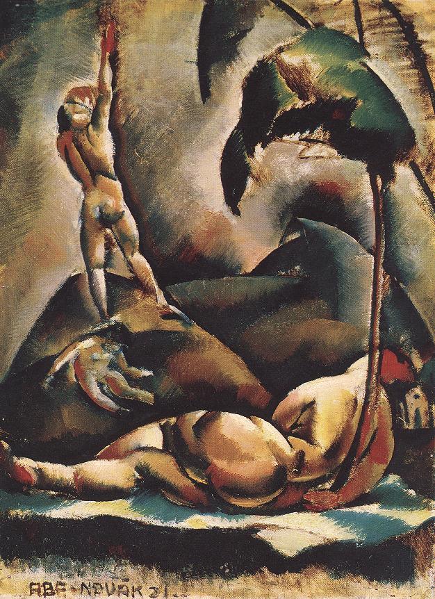 Aba –Novák Vilmos: Aktok tájban, 1921. (Az Árkádia tájain kiállításról). Fotó: Képzőművészet Magyarországon