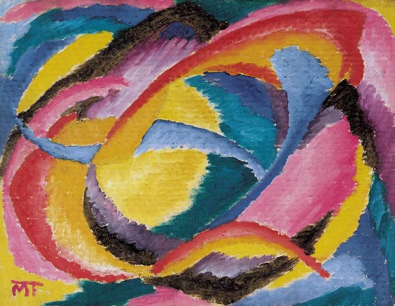 Mattis Teutsch János: Lélekvirág, 1920-22. Fotó: MNG