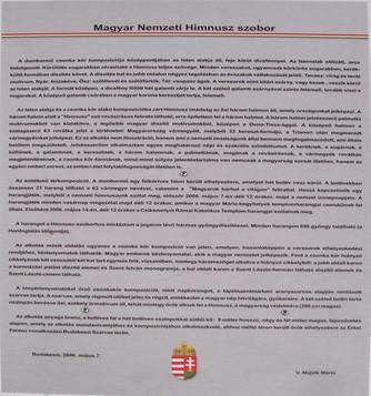 Magyar Nemzeti Himnusz Szobor