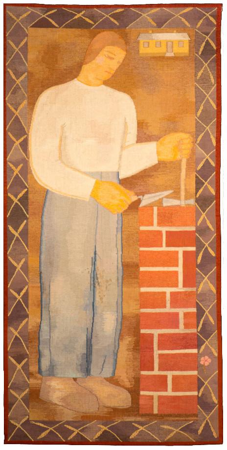 Ferenczy Noémi: Kőműves (Újjáépítés), 1933