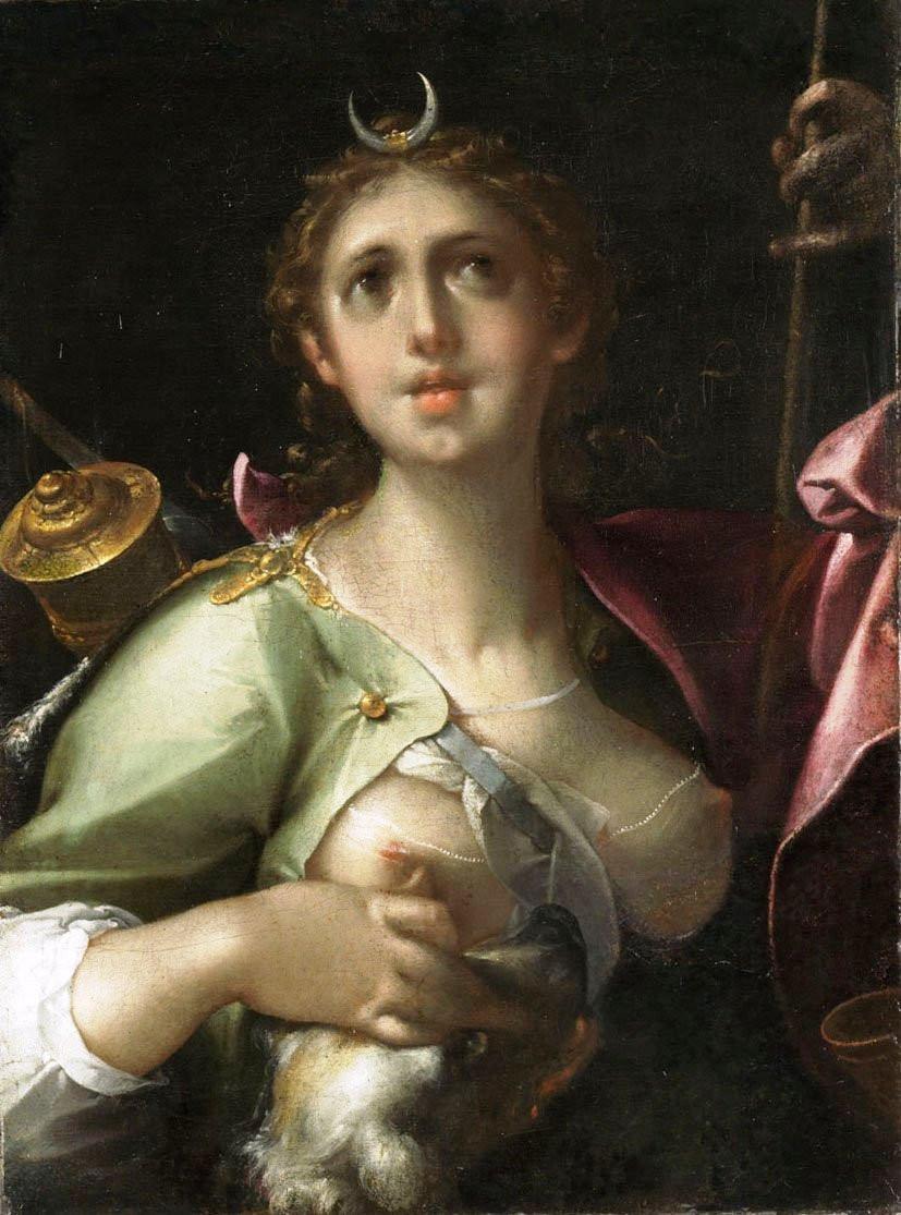 Bartholomäus Spranger: Diana – Luna, 1600 körül