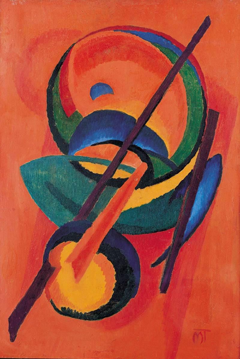 Mattis Teutsch János: Nagy piros kompozíció, 1924