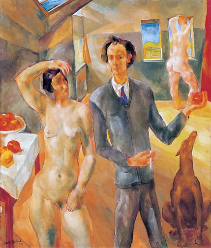Paizs Goebel Jenő: Műteremben, 1930. Fotó: BTM