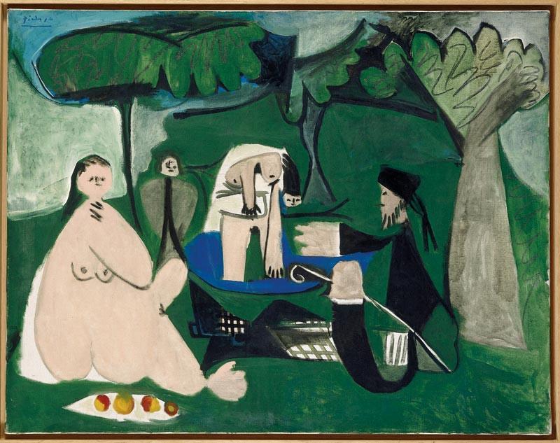 Pablo Picasso: Reggeli a szabadban, 1960. Fotó: Tate Gallery