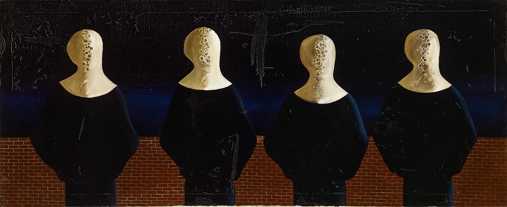 Ország Lili: Memento, 1957. Olaj vászon, 45 x 121 cm. Pilinszky János hagyatékából