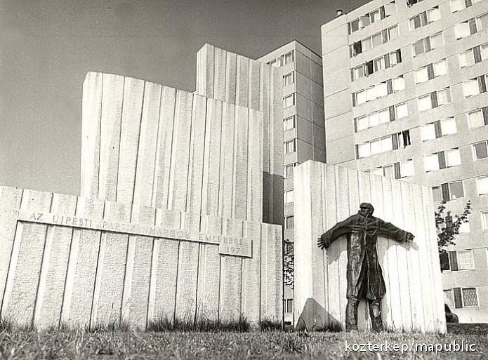 Varga Imre: Partizán emlékmű, 1971. Bronz, 230 cm. Budapest, IV., Pozsonyi út. Építész: Spiró Éva; fotó: Index/Köztérkép