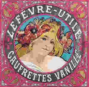 Alfons Mucha: Lefévre-Utile ostya. Csomagolás, 1897 körül