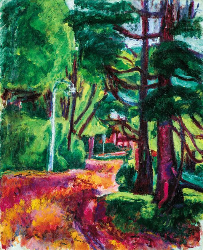 Czóbel Béla: Park (Montmorency), 1910. Fotó: Fidelio