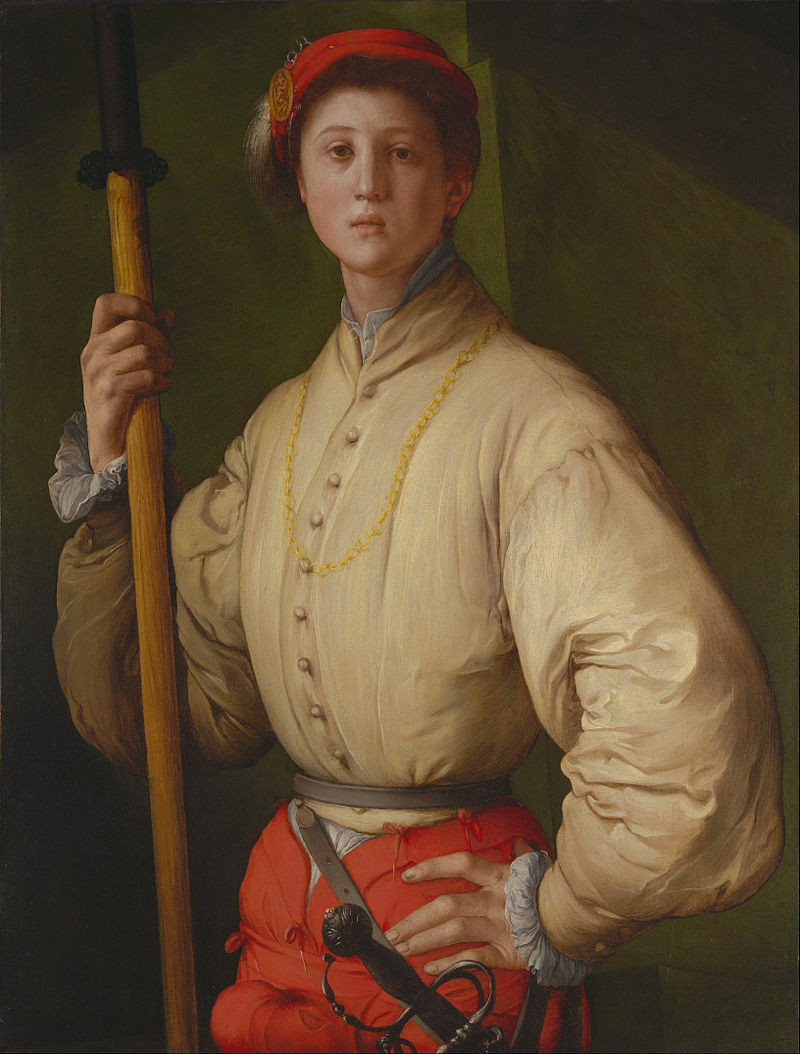Pontormo: Alabárdos arcképe, 1529-1530. 95.3 × 73 cm. J. Paul Getty Museum, Los Angeles