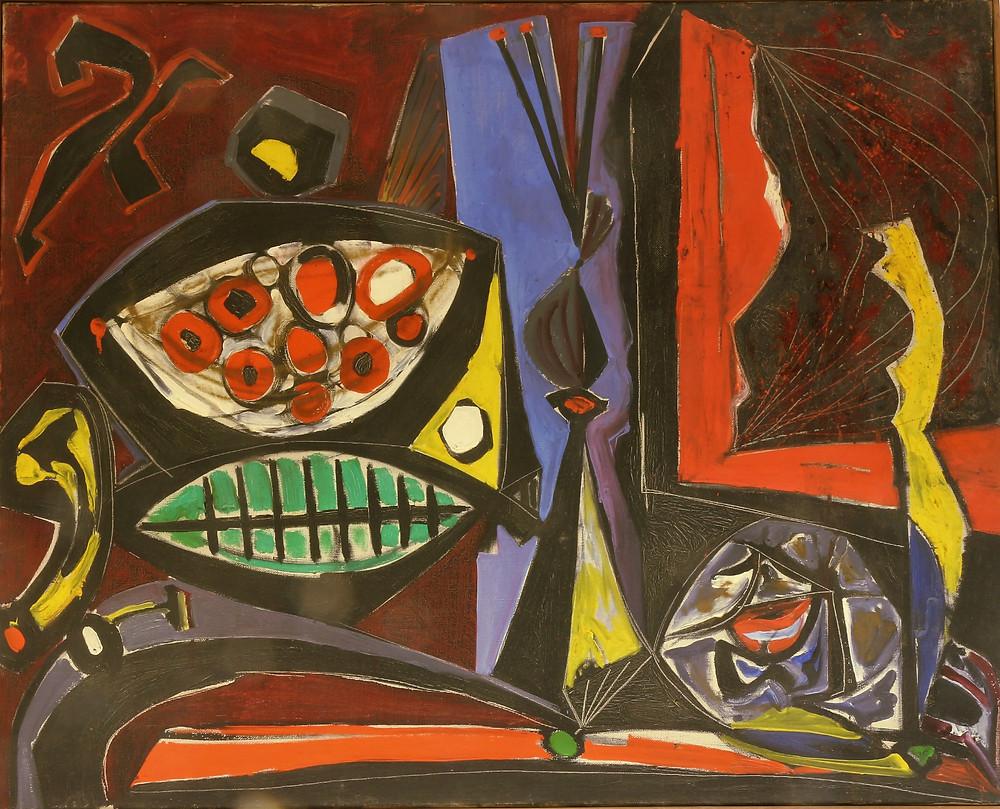 Hincz Gyula: Csendélet sötét alapon, 1946