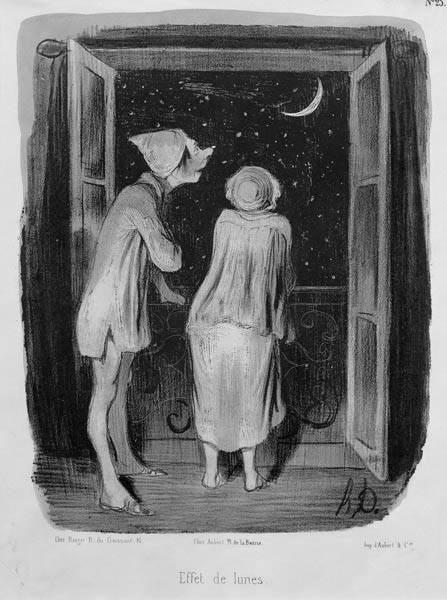 """Honoré Daumier: Effet de Lunes (""""A Hold hatása""""), 1840"""