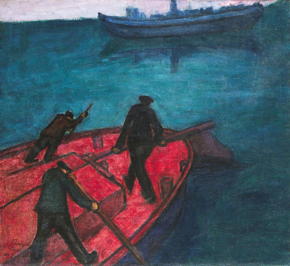 Tihanyi Lajos: Szajnai csónakosok, 1907