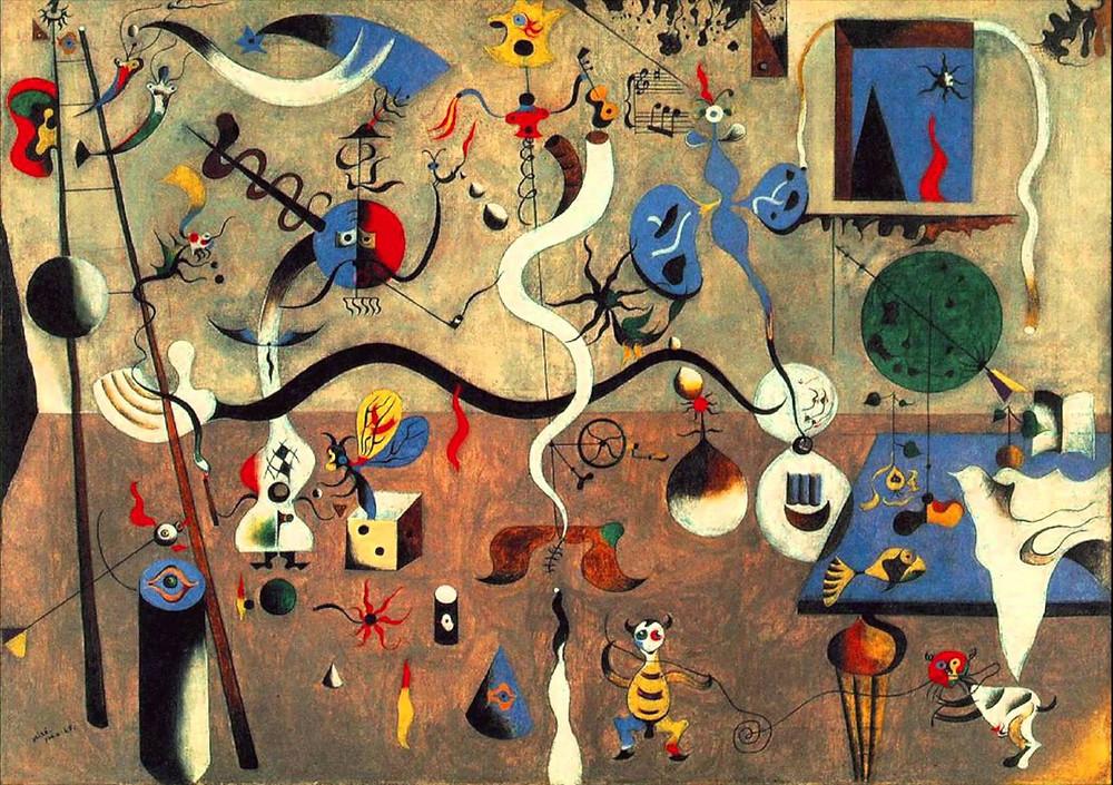 Joan Miró: Bohóckarnevál, 1924. Albright–Knox Art Gallery, Buffalo