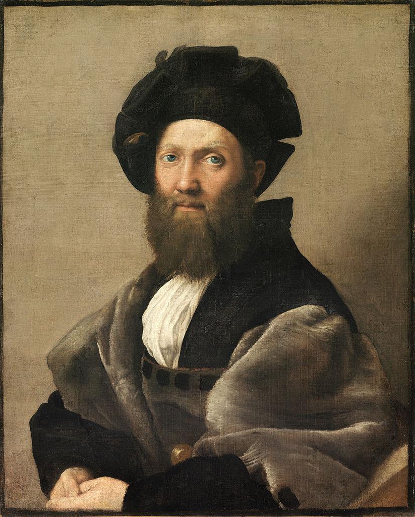 Raffaello Sanzio: Baldassare Castiglione arcképe, 1514-15. Párizs, Louvre