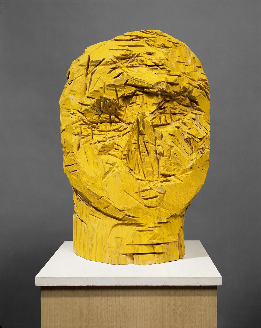 Georg Baselitz: Drezdai nők – mellettük az Elster, 1989. Olaj, bükkfa, 91 x 67,5 x 32,5 cm. Sammlung Würth, Würth. Fotó: Bill Jacobson Studio, New York © Georg Baselitz.