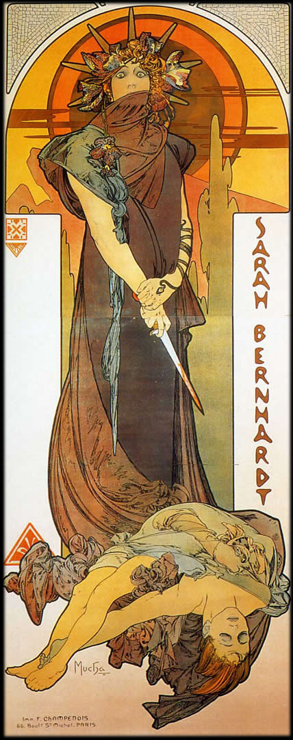 Mucha, Alfons: Médee, 1898. Fotó:://ayay.co.uk