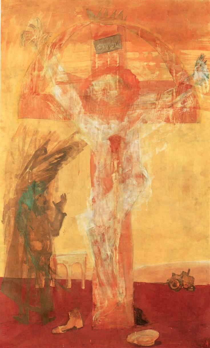 Kondor Béla: Krisztus 2., 1971. Fotó: http://www.hung-art.hu/