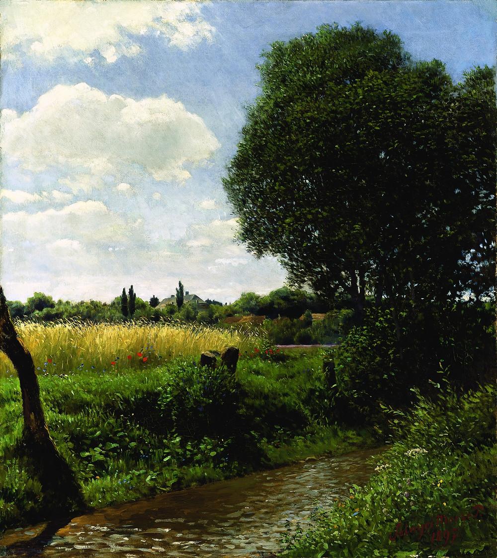 Szinyei Merse Pál: Patakpart, 1897. Fotó: © Kovács Gábor Gyűjtemény