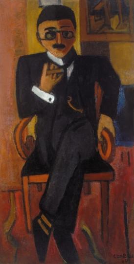 Czóbel Béla: A bergeni lelkész, 1918. Fotó: Hungart