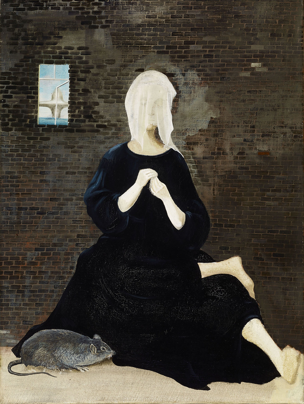 Ország Lili: Szorongás, 1955. Olaj, vászon, 66 x 45 cm. Kolozsváry-gyűjtemény, Győr