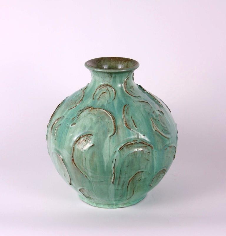 Gádor István: Zöld váza; 26 cm, kb. 40-es évek