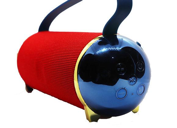 Bocina cilindro rojo/azul