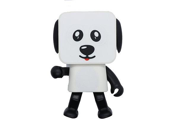 Bocina bailarina perrito blanco
