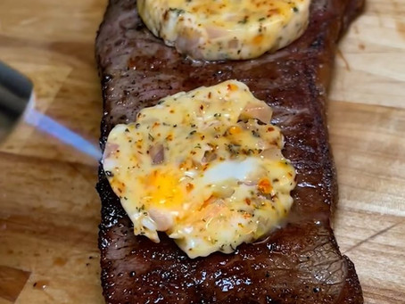 I made compound butter for steak