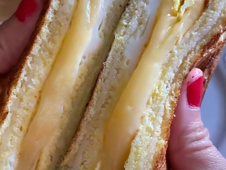 Cheesy Breakfast Sandwich
