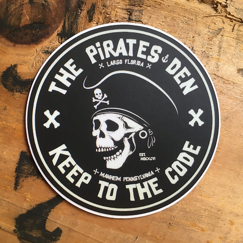 "The Pirates Den / 3"" Sticker"