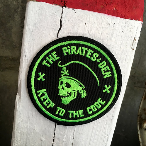 """The Pirates Den / 3"""" Patch O' Green"""