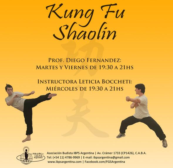 El espíritu del Kung Fu tiene sus raíces en la sabiduría del budismo Chan. A través de su aprendizaje se persigue que los alumnos puedan alcanzar un equilibrio físico, mental y espiritual. La práctica cuidadosa y respetuosa del Kung Fu asegura una mejoría en la salud.  Algunos de los beneficios que se obtiene de la práctica del Kung Fu son: Concentración Autocontrol Seguridad personal Resistencia física Paciencia Flexibilidad Tonificación muscular Mejora en el sistema inmunológico y cardíaco Mejora en el aparato respiratorio En el kung fu Shaolin Quan (tradicional) se practican combinaciones de movimientos (formas) basados en distintos aspectos de la naturaleza como ser cinco elementos y animales (grulla, serpiente, leopardo, tigre, dragón). En las formas se transmite la técnica y la filosofía que guardada en ella. La práctica de Kung Fu tradicional se compone de Shaolin Quan, Tai Ji Quan y Qi Gong.