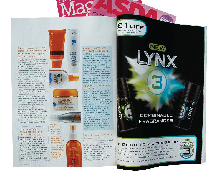 Unilever magazine advertorials • Creative Artwork, Project Management & File Delivery