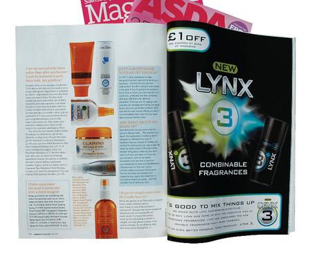 Unilever magazine advertorials • Creative Artwork, Project Management & File Delivery