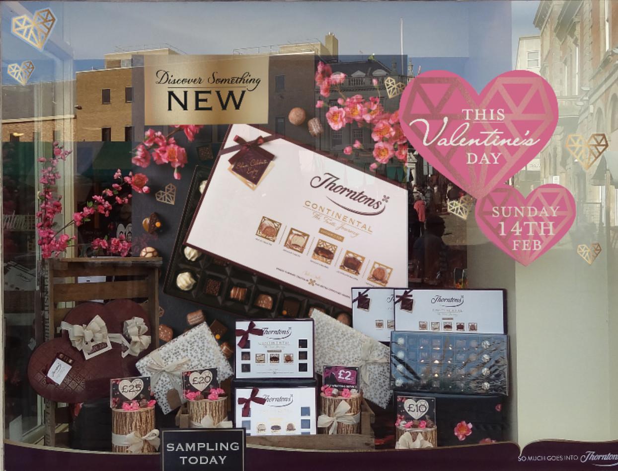 Thorntons Valentines Day retail window