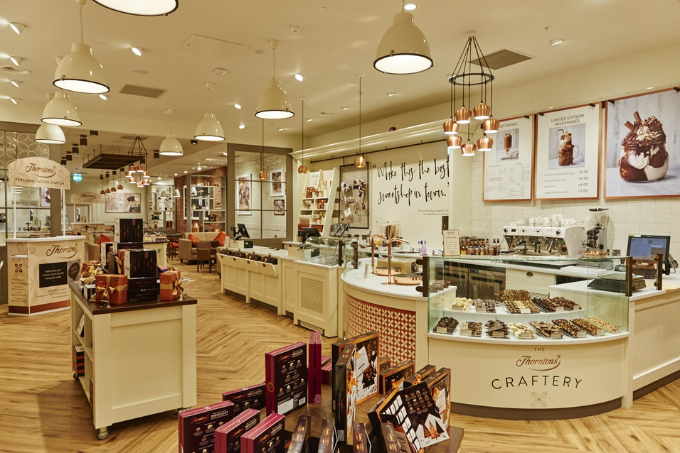Thorntons, Derby Intu / Retail store communications