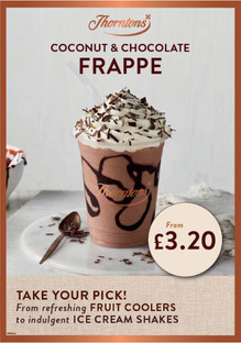 Thorntons Cafe Summer drinks campaign • Art Direction